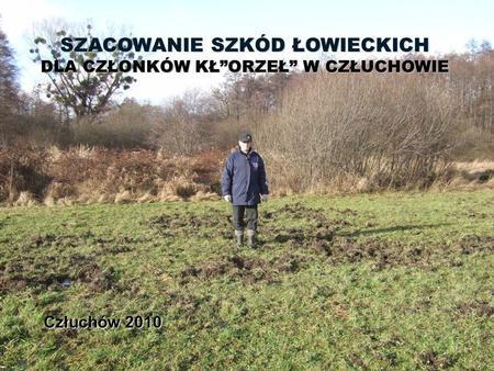 Człuchów 2010 SZACOWANIE SZKÓD ŁOWIECKICH DLA CZŁONKÓW KŁORZEŁ W CZŁUCHOWIE.