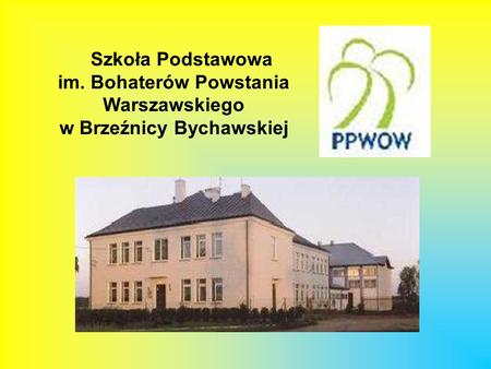 Szkoła Podstawowa im. Bohaterów Powstania Warszawskiego w Brzeźnicy Bychawskiej.