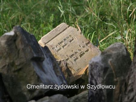 Cmentarz żydowski w Szydłowcu. Cmentarz żydowski w Szydłowcu to jeden z niewielu materialnych śladów żydowskiej obecności w Szydłowcu. Obecny cmentarz.