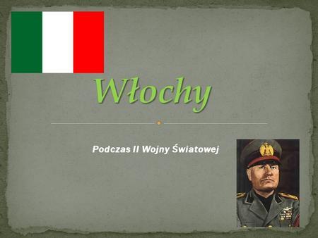 Podczas II Wojny Światowej. Faszyzm jest to ideologia powstała we Włoszech w okresie międzywojennym, sprzeciwiającej się demokracji, głoszący kult państwa.