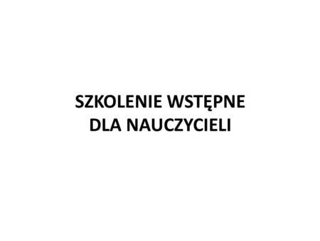 SZKOLENIE WSTĘPNE DLA NAUCZYCIELI. Konstytucja Rzeczypospolitej Polskiej z dnia 2 kwietnia 1997 r.(Dz. U. nr 78, poz. 483) Art. 24 Praca znajduje.