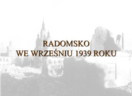 RADOMSKO WE WRZEŚNIU 1939 ROKU. Uroczystość przekazania broni ufundowanej przez mieszkańców Radomska na Fundusz obrony Narodowej. Plac Maja Druga połowa.
