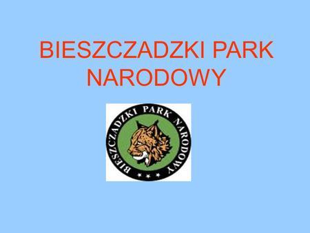 BIESZCZADZKI PARK NARODOWY. HISTORIA Bieszczadzki Park Narodowy jest trzecim co do wielkości parkiem narodowym na terenie Polski. W chwili utworzenia.