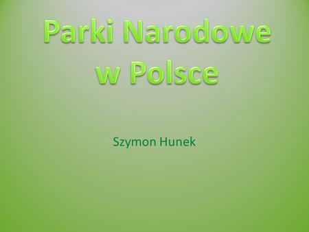 Szymon Hunek. Co to jest park narodowy? Jest to duży obszar (w Polsce od 500 ha) o szczególnych wartościach przyrodniczych, naukowych, historyczno-kulturowych.